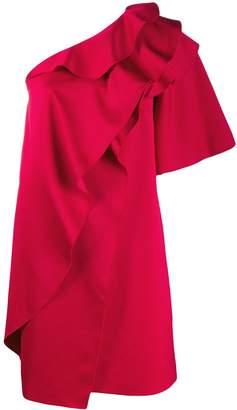 Paule Ka ruffled one-shoulder dress