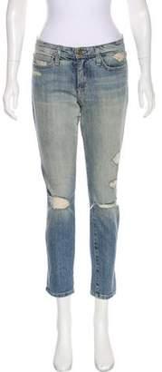 Joe's Jeans Mid-Rise Distressed Jeans