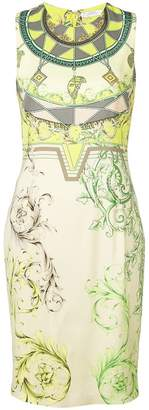 Versace short printed dress