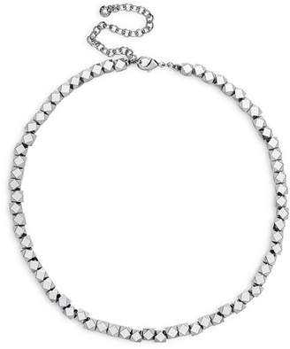 "BaubleBar Dana Geometric Bead Statement Necklace, 13"""