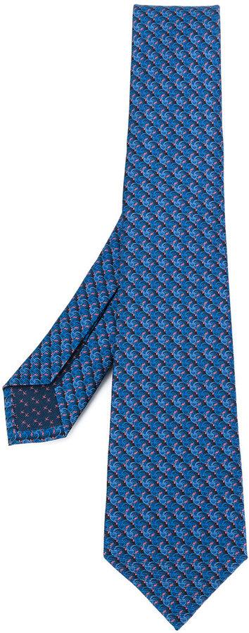 Bulgari micro printed tie