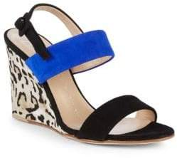 Giuseppe Zanotti Colorblock Leather Wedge Sandals