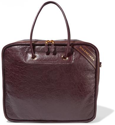Balenciaga Balenciaga - Blanket Textured-leather Tote - Merlot