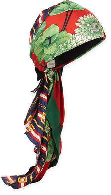 Gucci GG Belts & Spring Bouquet Printed Silk Twill Headband
