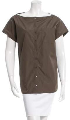 Akris Sleeveless Button-Up Top