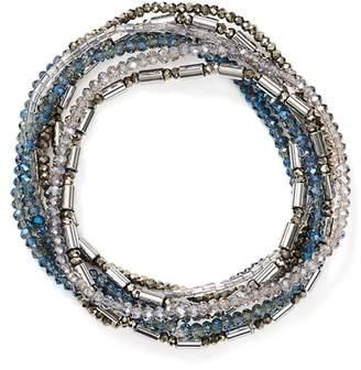 Aqua Beaded Stretch Bracelets - 100% Exclusive