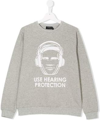 John Richmond Kids TEEN hearing protection sweatshirt