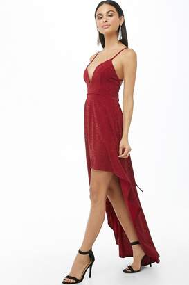Forever 21 Glittered High-Low Gown