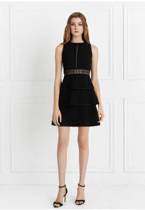 Rachel Zoe Vanessa Tiered Stretch-Crepe Dress