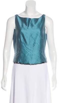 Lela Rose Sleeveless Silk Top