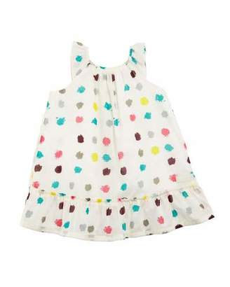 Burberry Tania Dot-Print A-Line Dress, Size 6M-3
