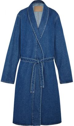 Balenciaga - Belted Denim Coat - Indigo $1,135 thestylecure.com