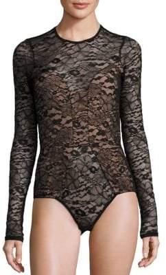 Fleur Du Mal Chat Noir Laced Bodysuit