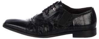 Cesare Paciotti Square-Toe Leather Derby Shoes