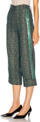 Silvia Tcherassi Dacil Pant in Sequin Teal Plaid | FWRD