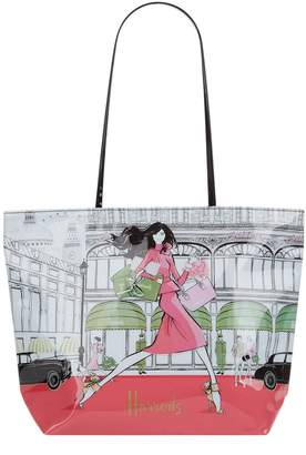 Harrods Megan Hess Large Luxury Lifestyle Tote Bag