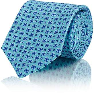 Kiton Men's Floral-Medallion Silk Necktie