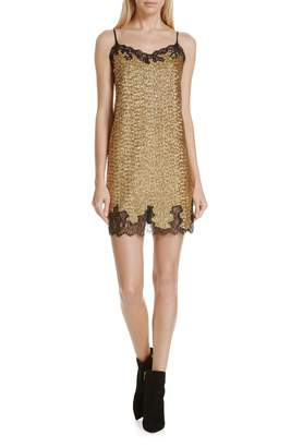 Robert Rodriguez Sequin Lace Camisole Dress