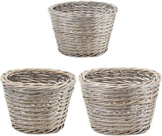 A&B Home Set Of 3 Willow Baskets