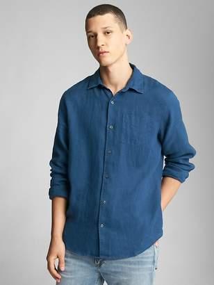 Gap Standard Fit Shirt in Pure Linen