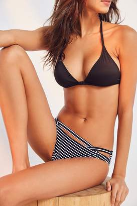 Out From Under Print Cutout Low-Rise Bikini Bottom