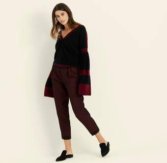 Amanda Wakeley Black & Berry Bell Sleeve Cashmere Jumper