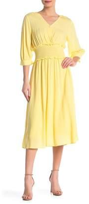 Elodie K Smocked Waist Midi Dress