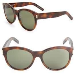 Saint Laurent 54MM Tortoiseshell Sunglasses