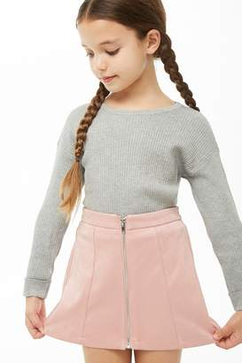 Forever 21 Girls Faux Suede Skirt (Kids)