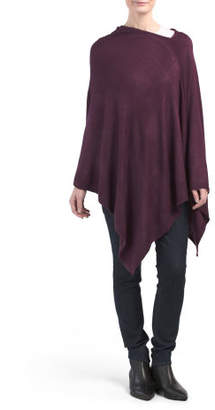 Asymmetrical Cashmere Feel Knit Poncho