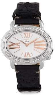 Fendi Studded Stainless Steel Strap Watch