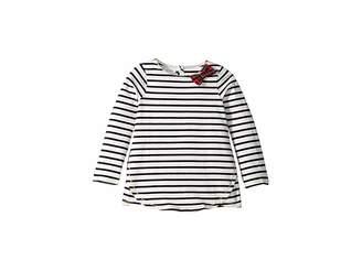 Mud Pie Striped Tartan Bow Tunic (Infant/Toddler)