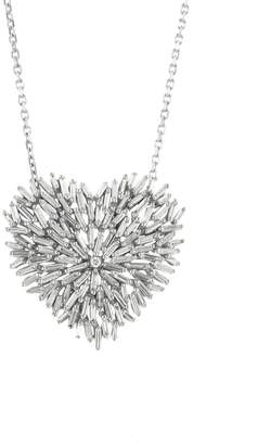 Suzanne Kalan White Diamond Firework Heart Necklace