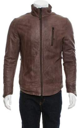 Robert Geller Lamb Leather Jacket