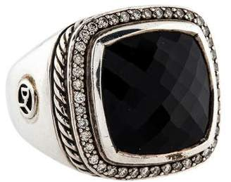 David Yurman Onyx & Diamond Albion Cocktail Ring