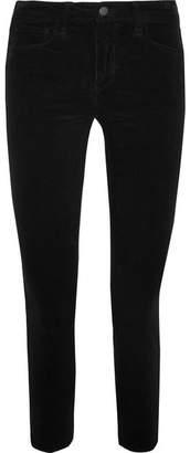 L'Agence The Margot High-rise Corduroy Skinny Pants - Black
