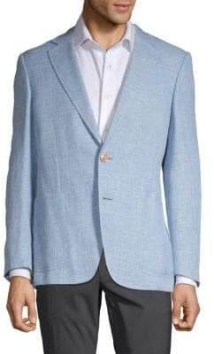 Canali Textured Linen, Wool & Silk Sport Jacket