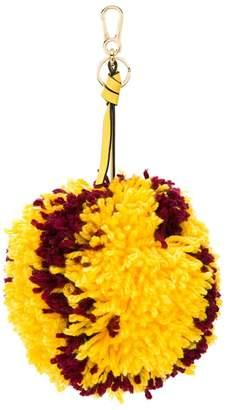 Loewe large pompon keyring charm