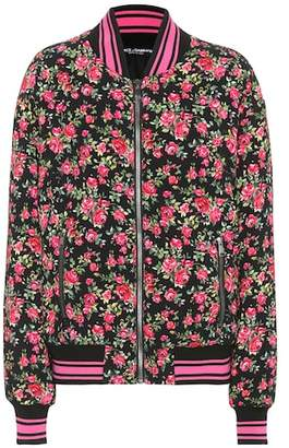 Dolce & Gabbana Floral-printed bomber jacket