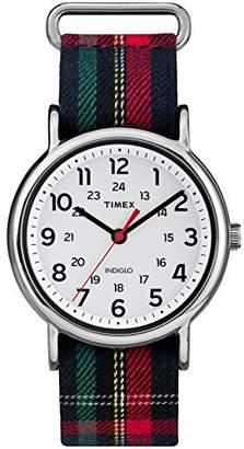 Timex Women's TW2R10900 Weekender Fabric Slip-Thru Strap Watch