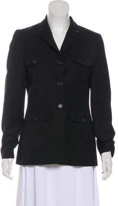 Burberry Structured Long Sleeve Blazer