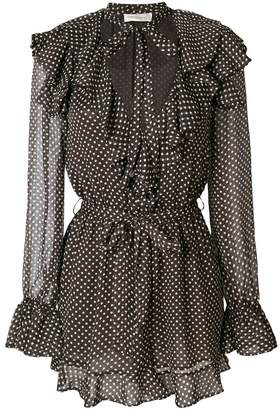 Zimmermann polka dot print playsuit