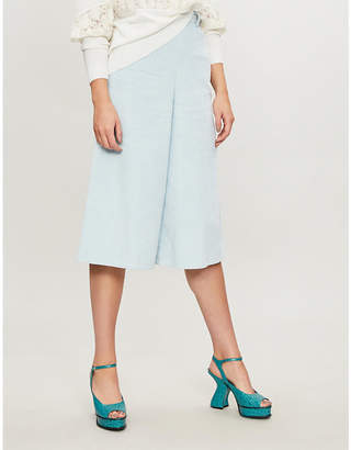 See by Chloe Wide-leg cropped corduroy trousers
