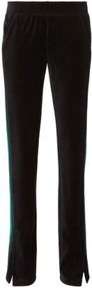 Pam & Gela Striped Velvet Track Pants