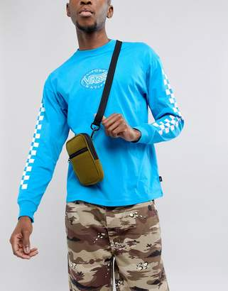 Asos Mini Flight Bag In Khaki Fleece