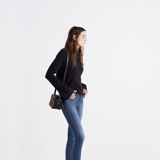 Bell-Sleeve Ribbed Turtleneck Sweater $69.50 thestylecure.com