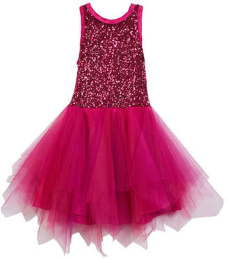 Zoe Marly Sequin & Tulle Party Dress, Size 7-16