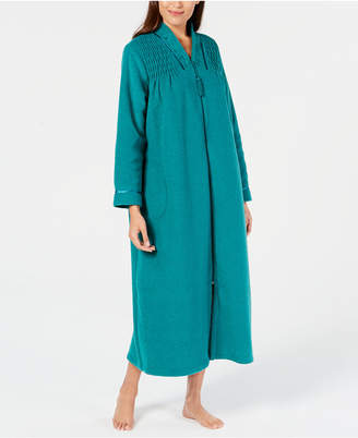 Miss Elaine Smocked Long Zip Robe