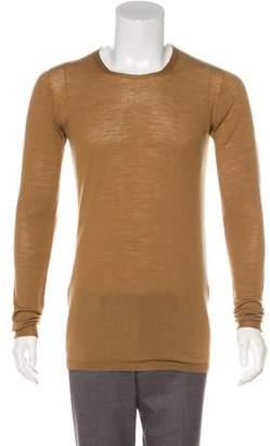 Rick Owens Long Sleeve Scoop Neck Sweater