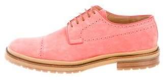 Dries Van Noten Suede Round-Toe Derby Shoes